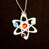 3 Stone Science Symbol necklace by Anatomology on Etsy