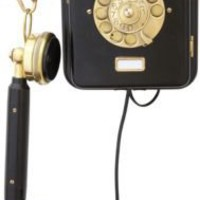 One Kings Lane - Russell Johnson - 1920s Black Ericsson Wall Phone