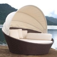 Amazon.com: Outdoor Wicker Bed: Patio, Lawn & Garden