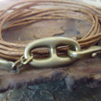 CONNECTED wrap bracelet with bronze and straps by AsaiBolivien 7,90 us$