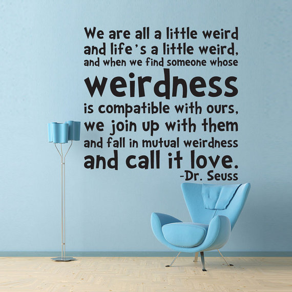 Vinyl wall decal sticker art life 39 s a from wordy bird for Dr seuss wall mural