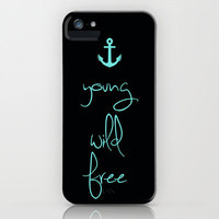 Young Wild Free Tiffany Anchor iPhone Case by Rex Lambo | Society6