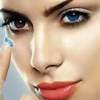 Colored Cosmetic Contact Lenses/ Blue * Free Case *