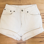 White High Waisted Levi's by TheOpSpot on Etsy