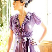 ruffle wrap dress by instant vintage | notonthehighstreet.com