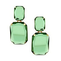 ASOS | ASOS Emerald Glass Earrings at ASOS