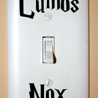 Lumos Nox Light Switch Decals