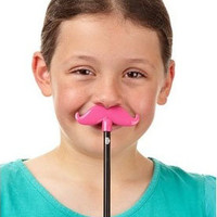 Mustache Pencil Topper Pink | Mustache School Supply, Mustache Stocking Stuffer, Cute Gift for Girl| Catching Fireflies