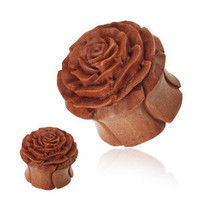 Carved Rose Wood EAR PLUGS TUNNELS EARLETS Body Jewelry