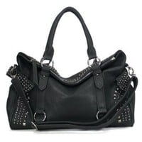 Amazon.com: 120885 bk Cuffu Online Close-Out High Quality Women/Girl Fashion Designer Work School Office Lady Student Handbag Shoulder Bag Purse Totes Satchel Clutches Hobos (black): Clothing