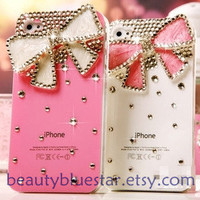 bow Crystal Handmade iPhone 5 cases44s back by beautybluestar
