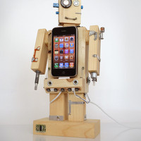 Robodock - iPhone dock - robot in function of docking station (iPhone dock, iPod dock, new iPhone 5 compatible) - unique design