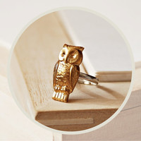 Gold Owl above knuckle ring by BoutiqueMinimaliste on Etsy