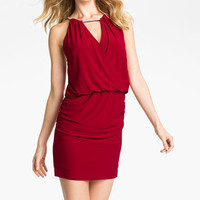 Betsy & Adam Embellished Keyhole Surplice Jersey Dress | Nordstrom