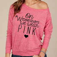 On Wednesdays We Wear Pink Mean Girls top w w w . l o v e a n d w a r c l o t h i n g . c o m