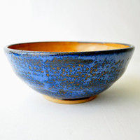 Handmade Medium Ceramic Serving bowl Bowl  Cinnamon by GlazedOver