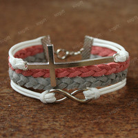 Cross Bracelet-Infinity Bracelet -Christmas gift for friends
