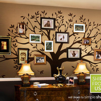 Family Tree Decal  Photo Tree Decal  Family Tree by SimpleShapes