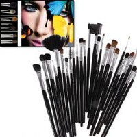 32PCS Professional Make-up Brush Set with Black Leather Bag
