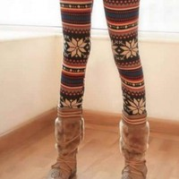 *Free Shipping* Knitting Women Multi-coloured Legging One Size YIF11028 from Voguegirlgo