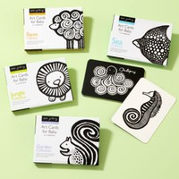 Kids' Educational Toys: Kids Black & White Animal Art Cards