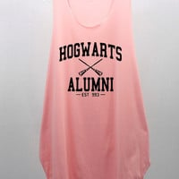 Hogwarts Alumni EST 993 Tank Top Tunic Blouse Dress loose hip women handmade silk screen printing