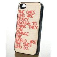 "Amazon.com: Black Iphone 4/4s Case --- Steve Jobs ""Crazy\"": Cell Phones & Accessories"