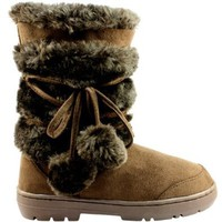 Amazon.com: Womens Pom Pom Fully Fur Lined Waterproof Winter Snow Boots: Shoes