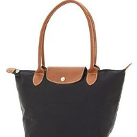 Designer Inspired Mini Lanus Tote - Black