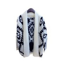 My Associates Store - New Vintage Women Lady Open Front Loose Batwing Knitted Sweater Cardigan Coat