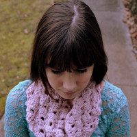 Light Pink Crocheted Scarf
