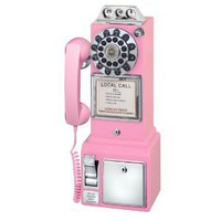 Amazon.com: Crosley CR56 1950&#x27;s Pay Phone - Hot Pink: Electronics