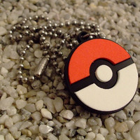 Pokemon inspired laser cut acrylic pendant necklace or key chain