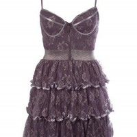 Lurex Lace Corset Dress - Dresses - Tops