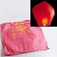 Wonderful Chinese Fire Powered Sky Flying Lantern Wish Lamp Light Balloon KongMing Candle - Red China Wholesale - Everbuying.com