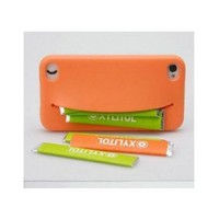 Feed Me Nifty Smiley Silicone Case For iPhone 4S/4 - Orange
