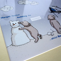 Snowbear Illustrative Print - 8.5&q.. on Luulla