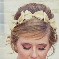 Three little bows, headband for adults, women hair accessory, holiday accessories