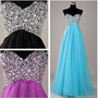 Custom Beach Sweetheart Floor-length Chiffon Beading Long Prom/Evening/Party/Homecoming/Bridesmaid/Cocktail/Formal Dress 2013 New Arrival