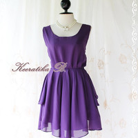 A Party Dress V Shape Style - Cocktail Wedding Bridesmaid Dinner Party Night Dress Dark Purple Deep back Style Gorgeous Dress