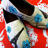 "Hand-painted TOMS -""A Day in Paris"""