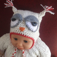 CROCHET PATTERN EASY Owl Hat All sizes Newborn by CrochetPatterns1