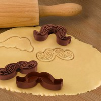 Munchstache Cookie Cutters by Fred