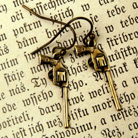 $10.50 Brass Gun Earrings RagTraderVintage.com