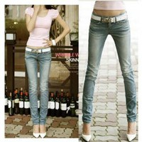 Special Back Pocket Frills Feet Jeans For Women China Wholesale - Everbuying.com