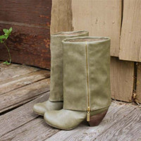 Whiskey & Rye Boots in Sage, Sweet Country Inspired Shoes