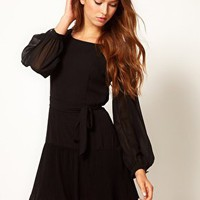 Max C Belted Dress at asos.com