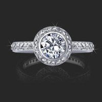 Engagement Rings -  .56 ctw. 14K Gold Diamond Engagement Ring