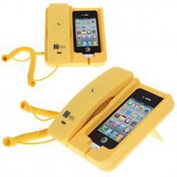 KK-02 Handset Dock Stand with Hands Free for iPhone 4,4S,3G/3GS,iPhone 5 (Yellow) China Wholesale - Everbuying.com