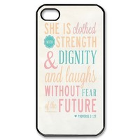 Diy Case Quote Iphone 4/4S Case Hard Case Fits Sprint, T-mobile, AT&T and Verizon IPhone 4s Case 102454